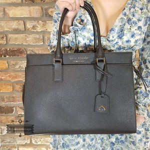 NWT Kate Spade Cameron Large Satchel Black Leather